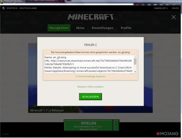 So sieht das aus wenn ich versuche das Spiel zu starten.. - (Spiele, Minecraft)