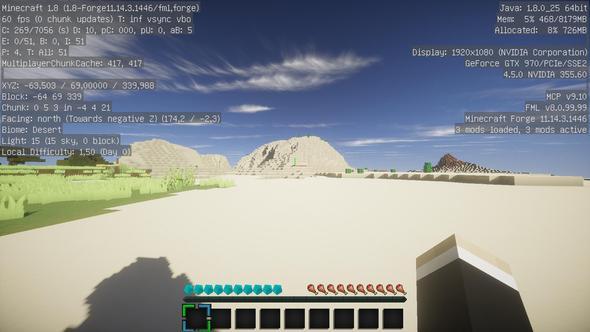 Und hier laggt es auch nicht  - (Minecraft, PC-Problem, minecraft shader)