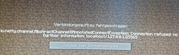 Minecraft Localhost server geht nicht?