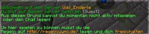 Text - (Minecraft, Computerspiele, Server)