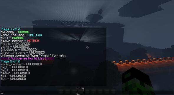 Die welten nach dem Neustart - (Minecraft, Multiverse)