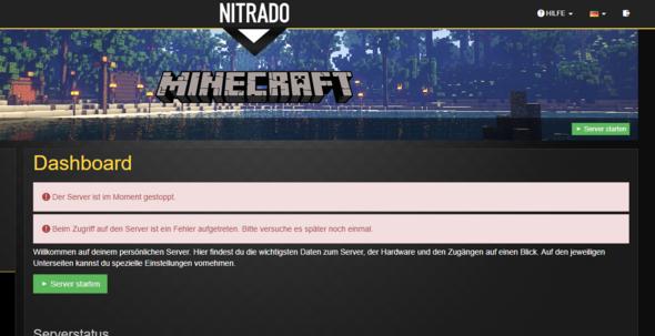 Minecraft Nitrado Server Gestopt Computer Technik Technologie - Nitrado minecraft server whitelist erstellen