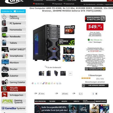 Der Gaming PC von one.de - (Computer, Minecraft, Gaming)
