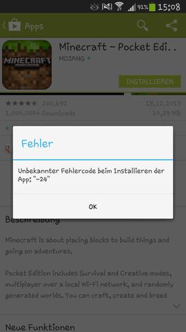 Der Error - (Games, MINECRAFT PE)