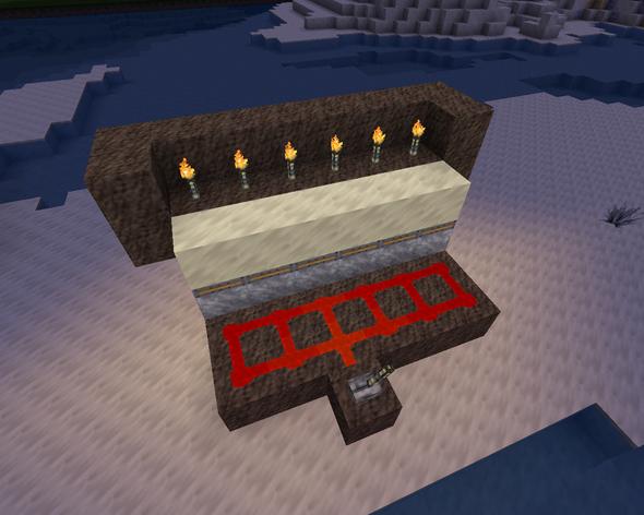 Das ist meine erstmals gedachte Konstruktion in Creative nachgebaut - (Minecraft, Piston)
