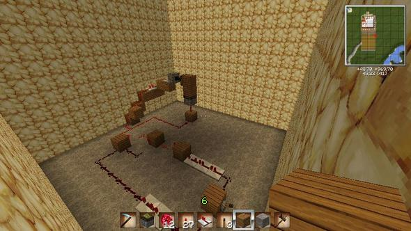 Bild 2 (nach schalterbetätigung) - (Minecraft, Computerspiele, Schaltung)