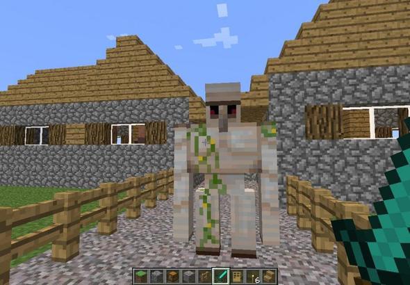 Minecraft Riesiger Weißer Dorfmensch Dorf NPC Riesen - Minecraft hauser kopieren