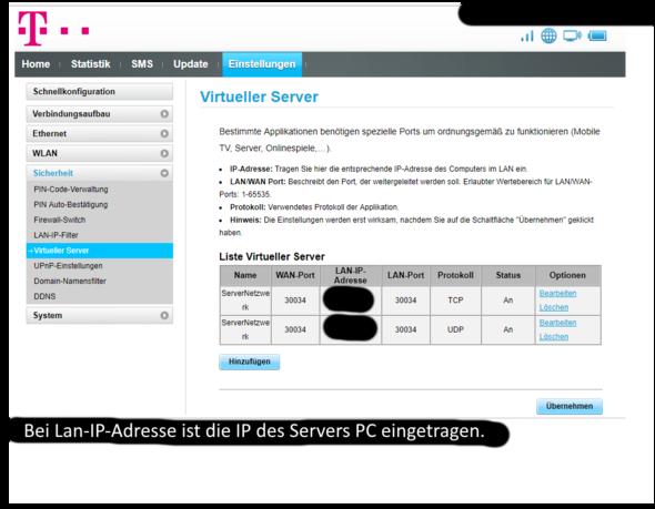 Minecraft Server Netzwerk Port Freigabe MinecraftServer - Minecraft server erstellen immer online kostenlos