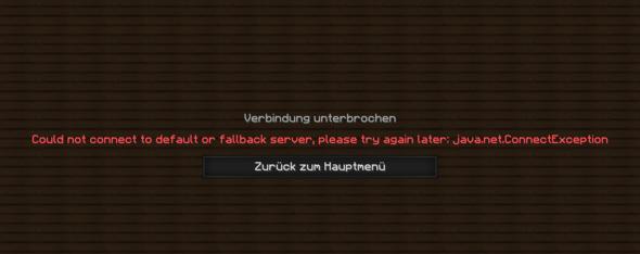 Minecraft Fehlermeldung - (Minecraft, Server, Root)