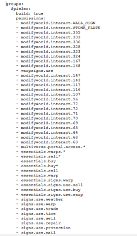 1.Teil Permissions - (Minecraft, Server, permissions)