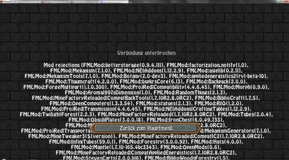 Verbindung unterbrochen - (Minecraft, Freunde, Server)