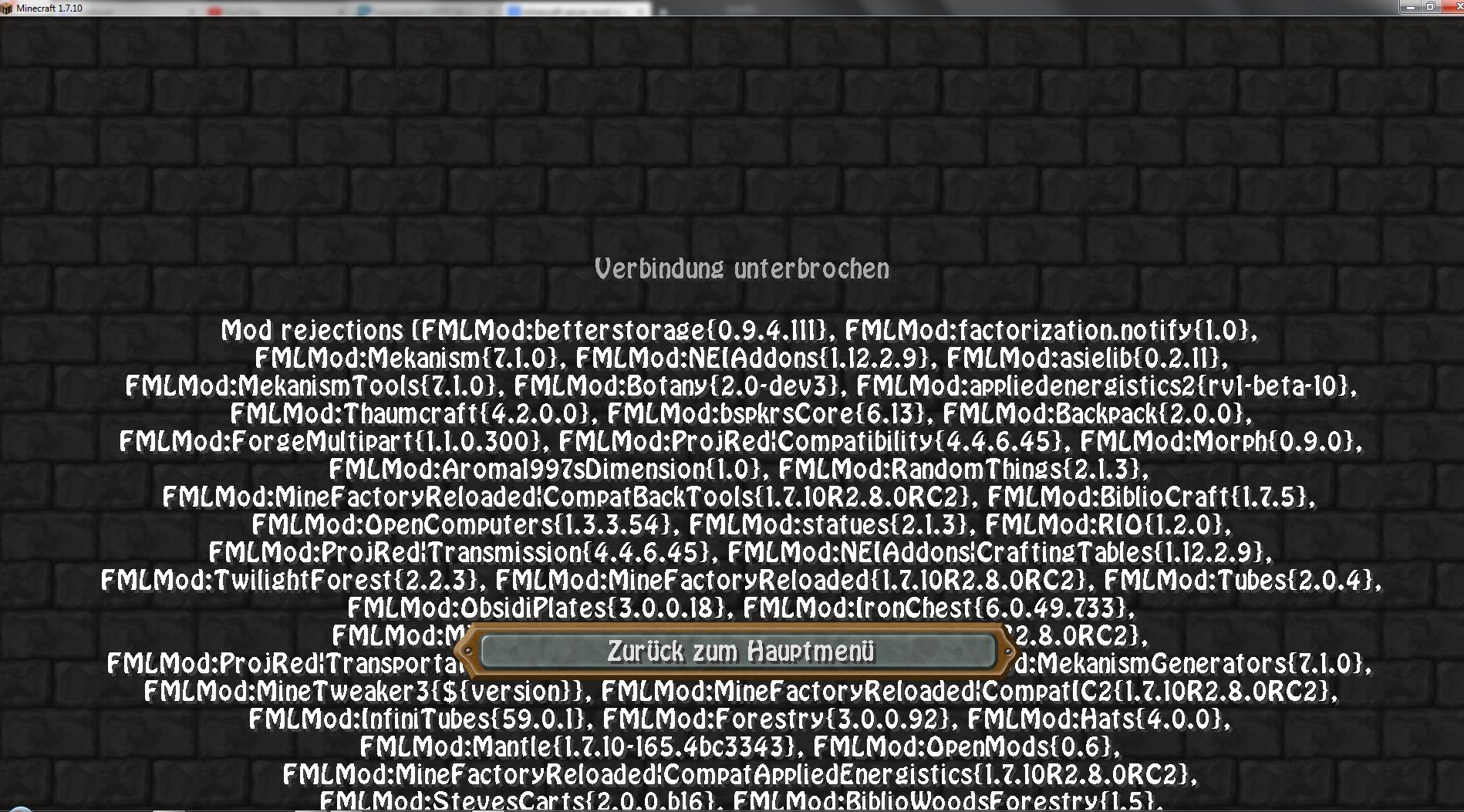 Minecraft Servernitrado Verbindung Unterbrochen Freunde Mods - Eigenen minecraft server erstellen nitrado
