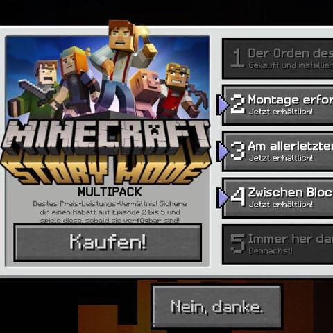 Das hier mein ich. - (Minecraft, MINECRAFT PE, Minecraft Story Mode)