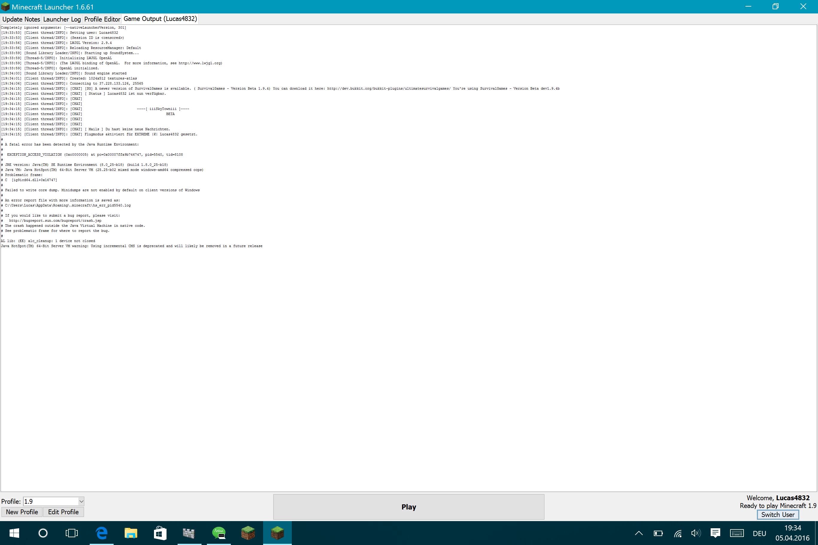 Minecraft Stürzt Beim Generieren Der Welt Ab Windows Java - Pc sturzt beim minecraft spielen ab