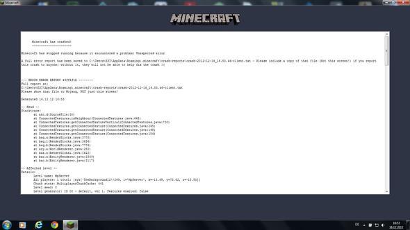 Minecraft Stürzt Nach Laden Der Welt Ab PC Spiele - Pc sturzt beim minecraft spielen ab
