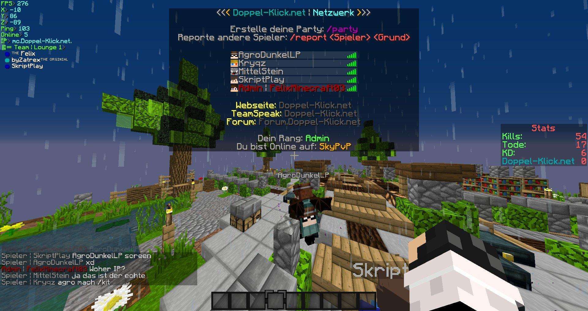 Minecraft Tabliste Sortierten Plugin Prefix Tablist - Minecraft spieler online