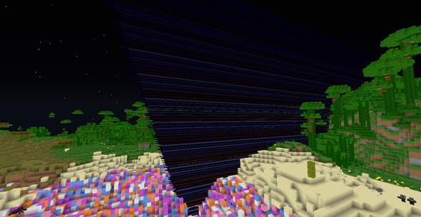 Bild 5 (Das mit der Wolle ist kein Bug ^-^) - (Minecraft, Bug, grafikfehler)
