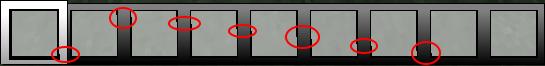 Ich habe die Verzerrungen Rot Markiert. - (Minecraft, Texturen)