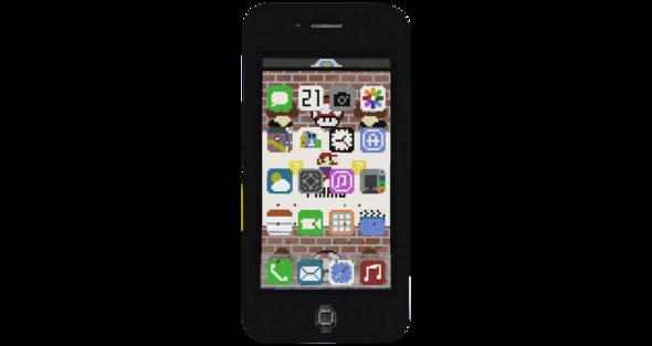 Hier ein Bild des Iphones - (Minecraft, iPhone, Urheberrecht)
