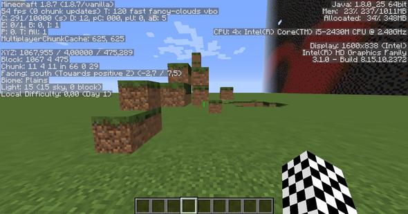 Das sind alles Grasblöcke - (Minecraft, verschwommen, pixelig)