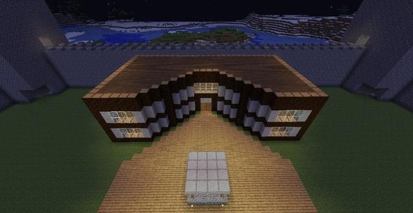 Minecraft villa welches dach for Welches haus bauen