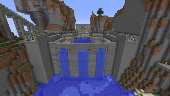 Der Staudamm - (Minecraft, bauen, großes)