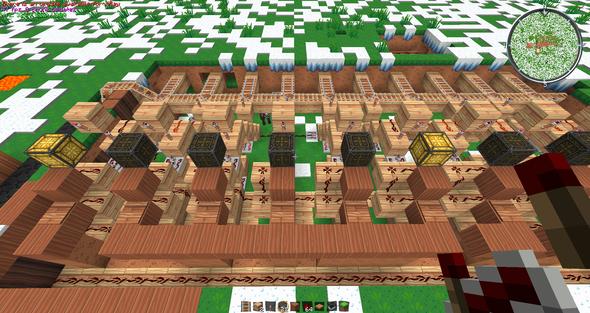 Das soll mein Bahnhof werden, allerdings leuchtet nicht nur ein Licht =/ - (Minecraft, redstone)