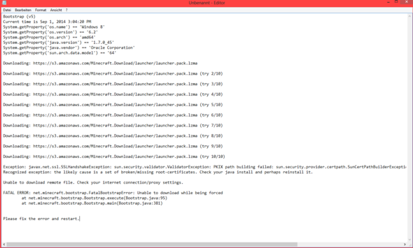 Beispielbild - (Minecraft, Java, Nvidia)