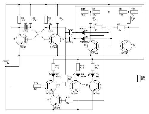 Mini-Ampel schaltung (Technik)