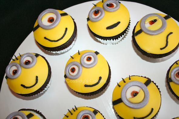 minion cupcakes backen