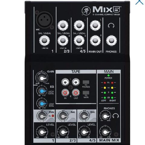 Mischpult Mackie Mix5 - (singen, Mischpult, Rode NT1-a)