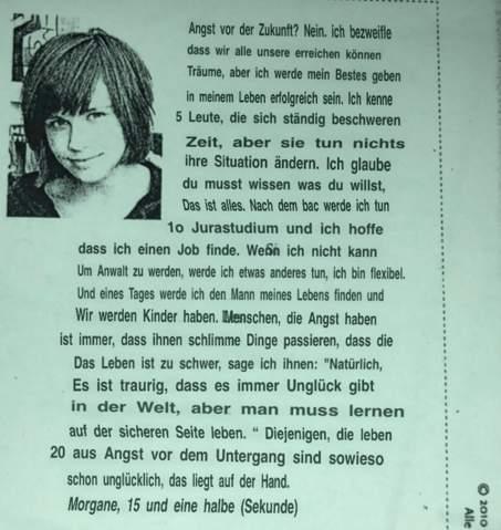 - (Deutsch, Text, Charakter)