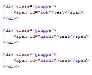 Codebeispiel - (HTML, CSS, Webdesign)