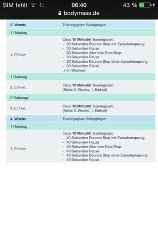 (2) - (abnehmen, Trainingsplan, Seilspringen)