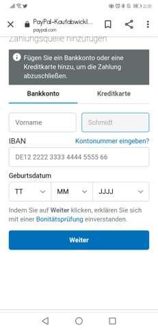 Paypal Kann Kein Konto Hinzufügen