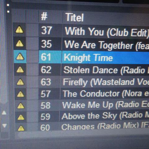 Hier die Dreiecke. - (Apple, iTunes, DJ)