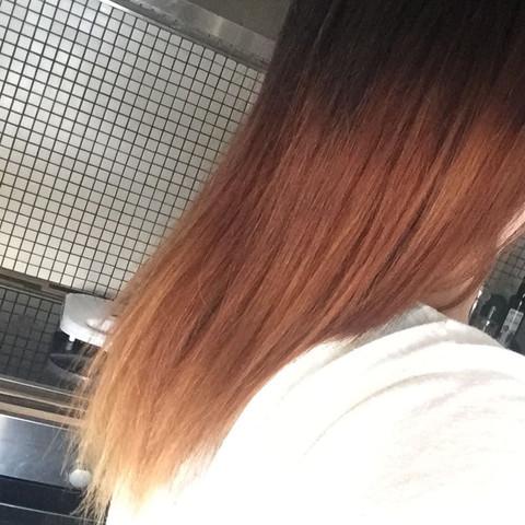 Haar Orange blond, ombre  - (Haare, Orange, silbershampoo)