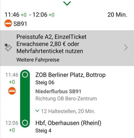 Mit Sozialticket von Bottrop nach Oberhausen?