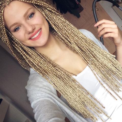 Braune haare blonde braids