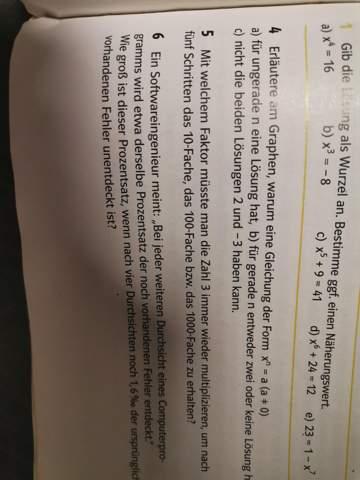 Mit welchem Faktor müsste man die Zahl 3 immer wieder multiplizieren, um nach fünf Schritten das 10 fache das 100 fache und das 1000 fache zu haben?