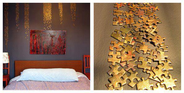 mit welchem kleber bekomme ich wie im bild die puzzleteile an die wand handwerker maler diy. Black Bedroom Furniture Sets. Home Design Ideas