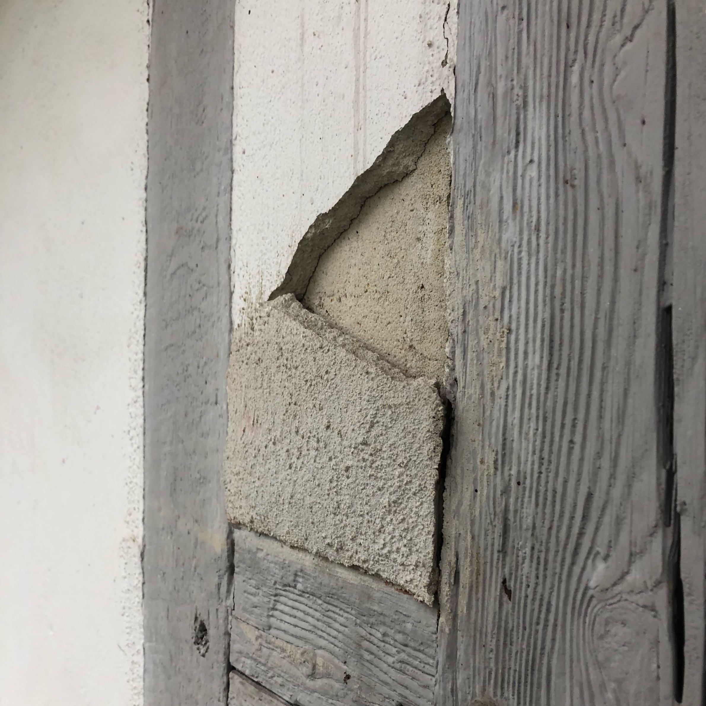 mit welchem material kann ich die fassade ausbessern? (fachwerk)
