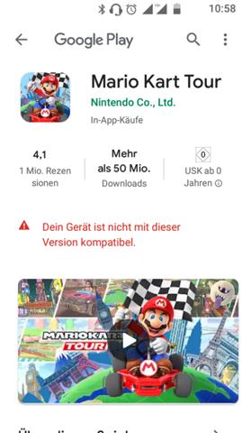 Mit welchem Smartphone oder Tablet wäre für Mario Kart Tour perfekt?