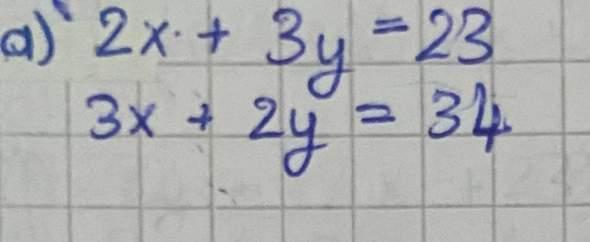 Mit welches Verfahren (Gleichsetzungs-, Einsetzung- oder Additionsverfahren) kann man diese Gleichungen mit zwei Variablen lösen?