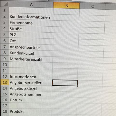 Das sind die Daten die benötigt werden - (Vertrag, Text, Excel)