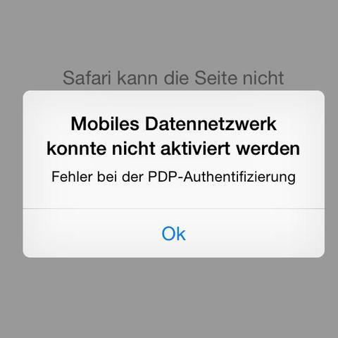 Diese Fehlermeldung kommt jedes Mal wenn ich das mobile Internet nutzen möchte  - (iPhone, Apple, Smartphone)
