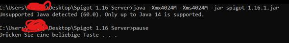 Mochte einen spigot1.16.1 Server machen aber geht nicht?