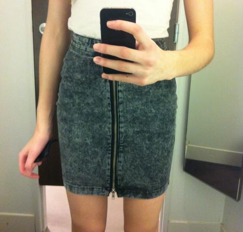 Jeansrock - (Mode, Kleidung, Jeansrock)