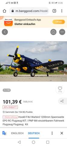 Modellflugzeug Corsair fliegen?