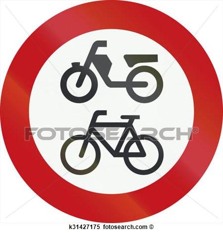 Verbotsschild 1 - (Roller, Moped, Motorad)